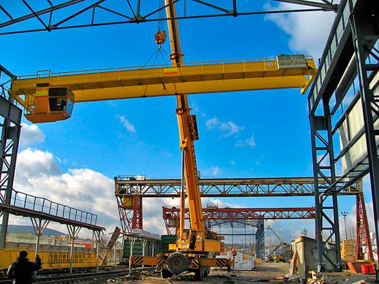 Монтаж-демонтаж мостовых кранов